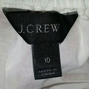 J. Crew Skirts - J. Crew Midi Skirt in Striped Linen Red White 10